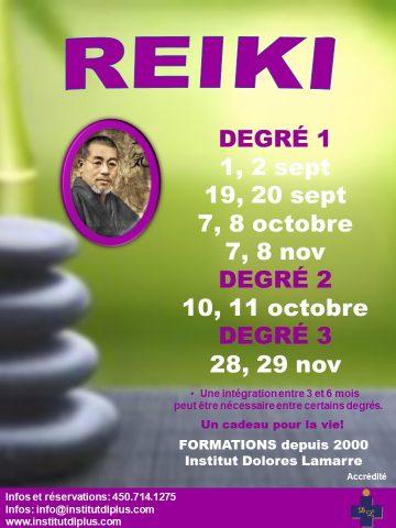 dates cours reiki